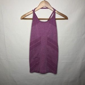Fabletics Purple Stretch Crisscross Athletic Tank